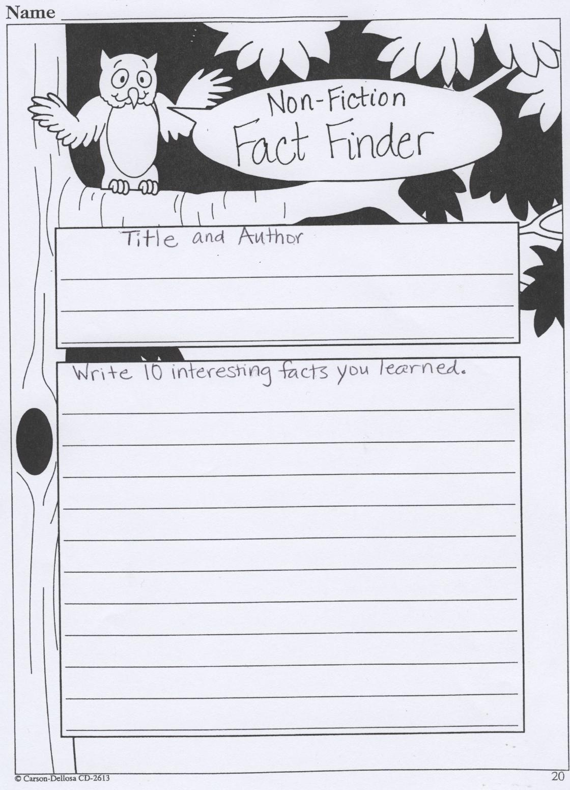 Book Report Form  Non Fiction  upper elem middle    A book report     Pinterest Book Report Template   Part I Sixth Grade Summer Fiction Book Report Form