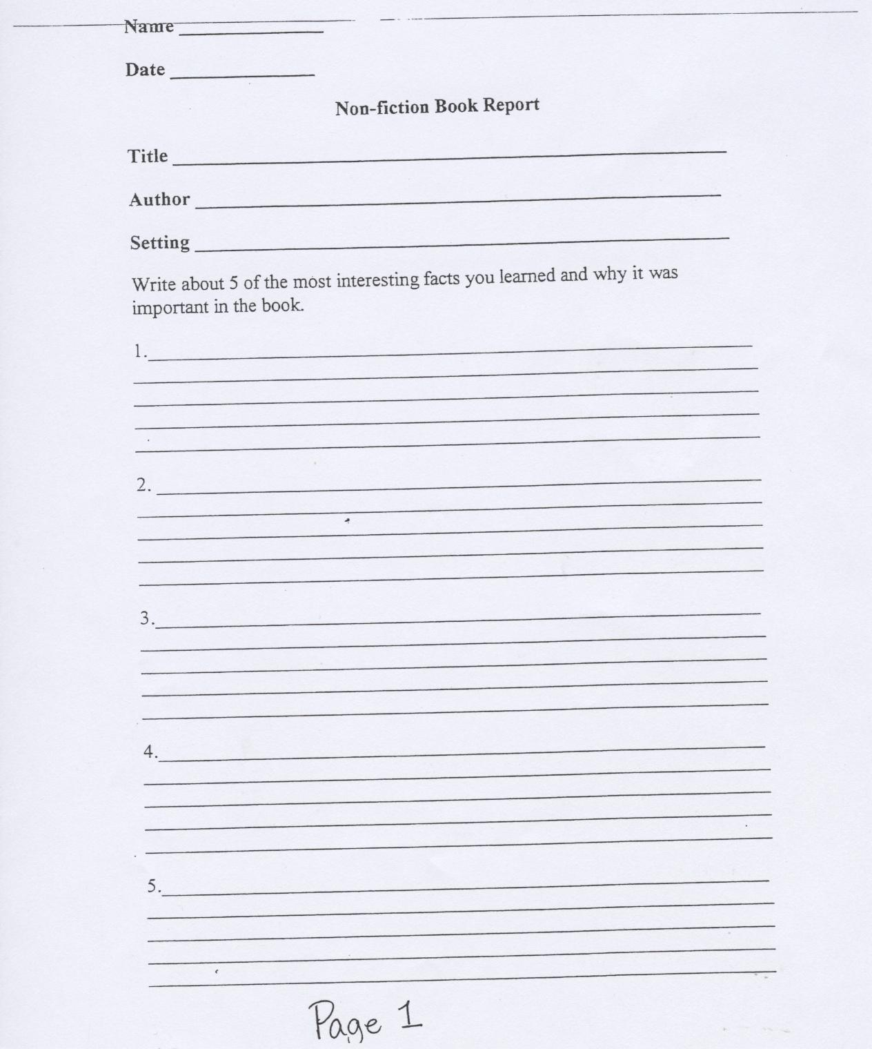 page for writing